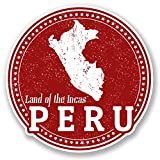 2 x Peru Travel Luggage Stickers
