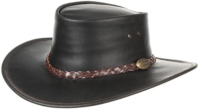 Swagman Leather Hat Jacaru men´s hat Australian hat (L 57-58 - dark ... 184ad973810a