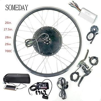 SOMEDAY 48V 1000W 17.5AH / 21AH Kit de conversión de Bicicleta ...