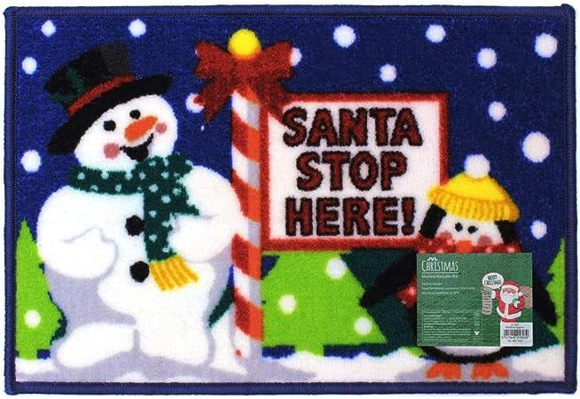 MERRY CHRISTMAS WELCOME DOOR MAT NON SLIP INDOOR OUT DOOR WASHABLE £5.99 EACH