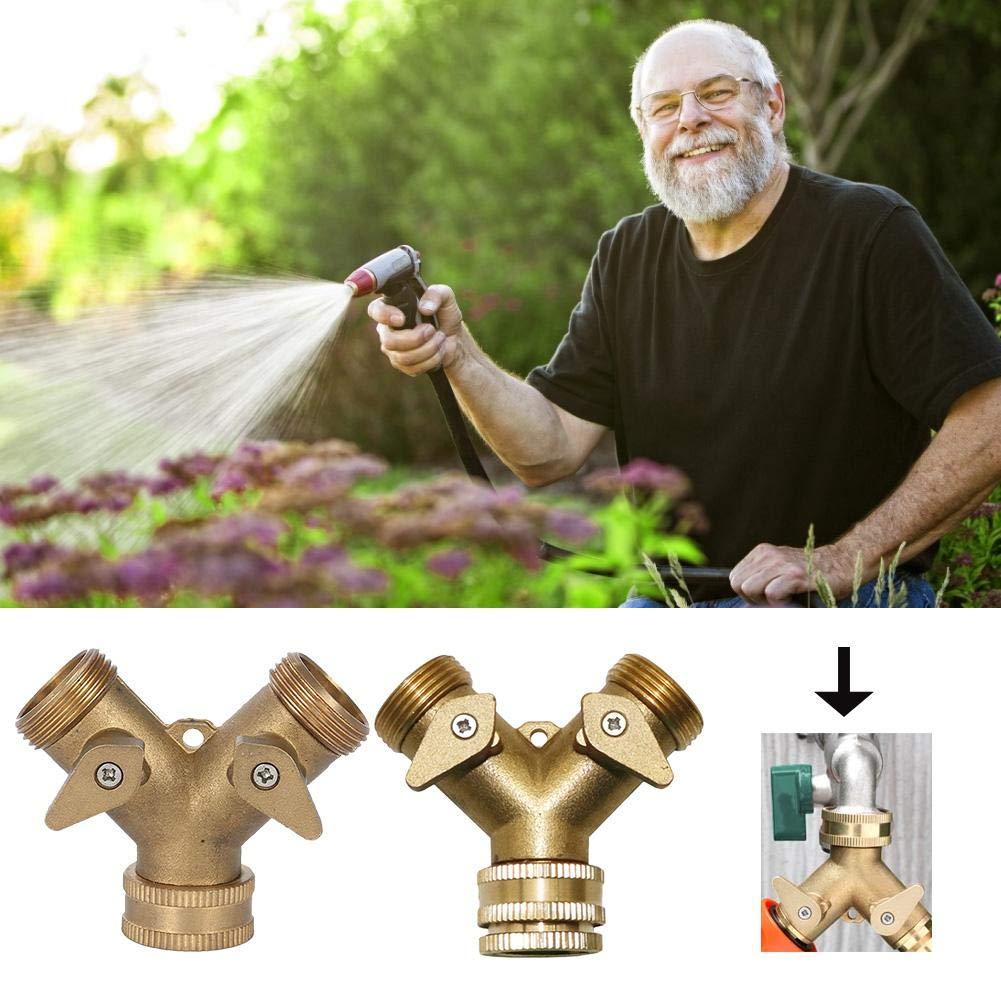 2 Wege Metal Valve Kardu Wasserabscheider Independent Switch Umsteller Schlauchanschluss Zweiwegeventil Bew/ässerung Gartenwasserleitung Shunt Valve