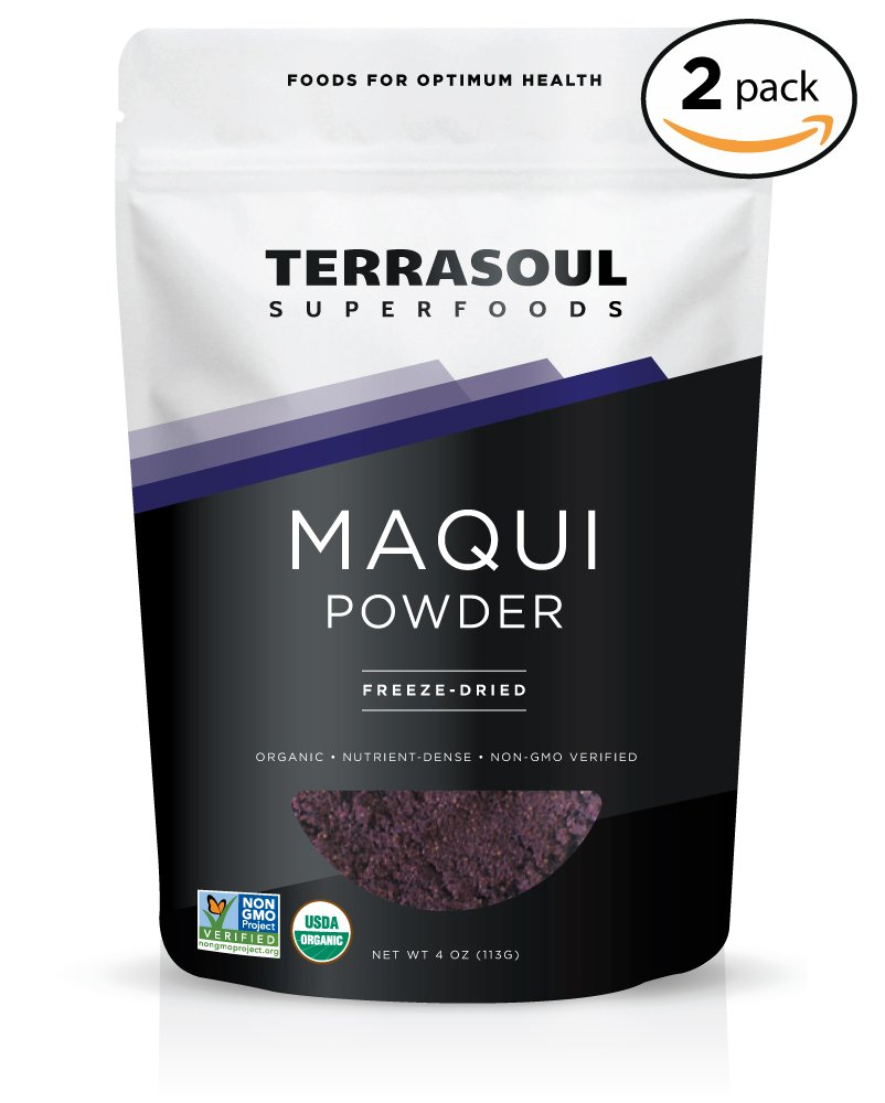 Terrasoul Superfoods Organic Maqui Berry Powder, 8 Ounces by Terrasoul Superfoods