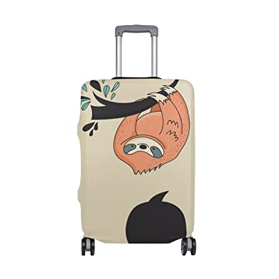 Brown Sloth Luggage Cover Elastic Suitcase Protector Fits 18-32 Inch new