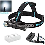 OLIGHT H2R Nova Rechargeable Headlamp/Flashlight with Cree XHP 50 LED,Customized 18650 Battery for Outdoors and Household, Bundle GrapheneFast Battery Case(Cool White, 2300 Lumens)
