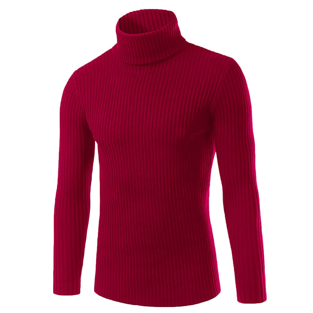 Mens Roll Polo Turtle Neck Jumper Long Sleeve Knitted Slim Fit Pullover Sweater Knitwear