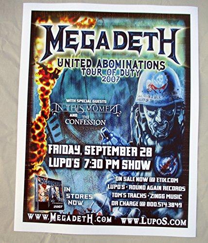 2007 Megadeth Tour of Duty Concert (2007 Concert Poster)