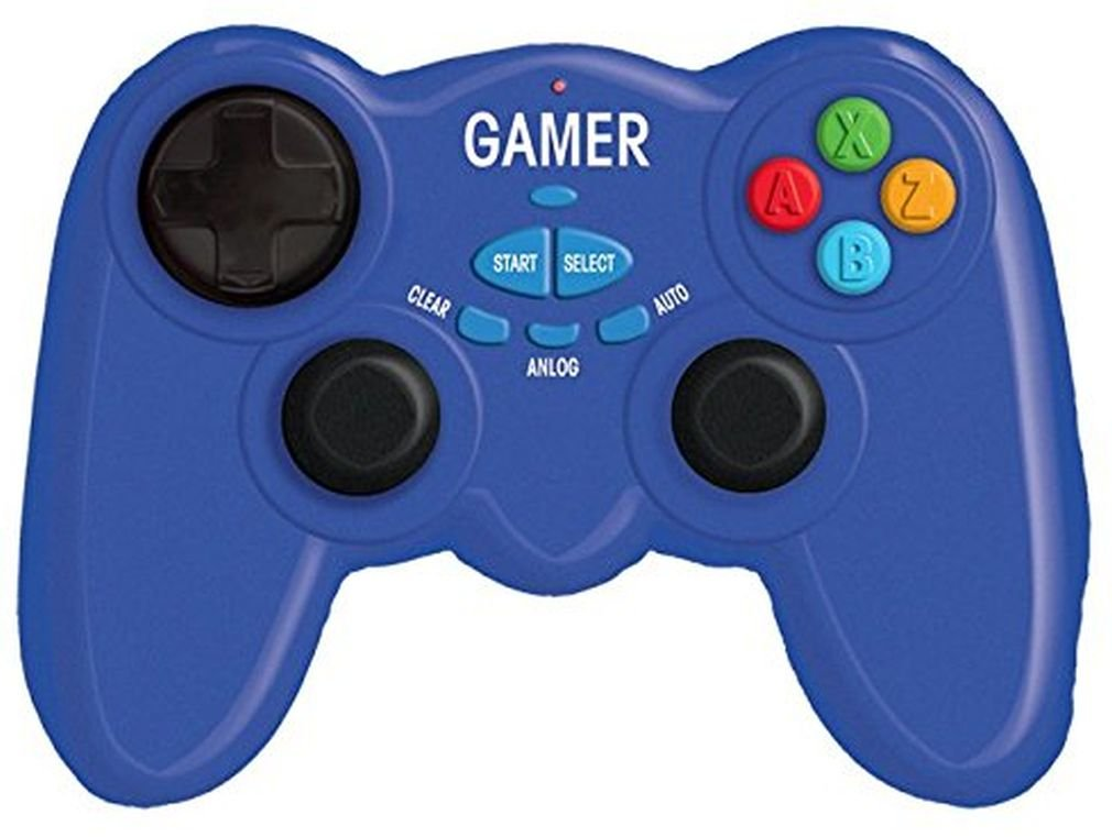 iscream Game On! Video Game Controller Shaped 18'' x 14'' Microbead Accent Pillow