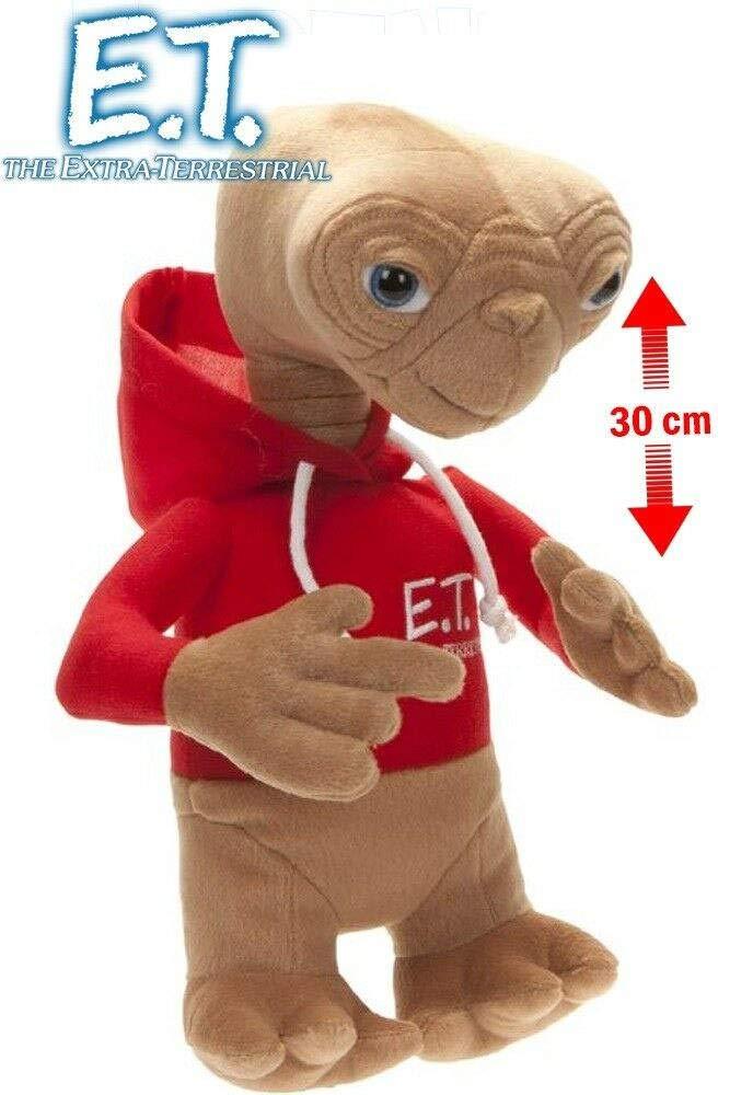Universal Studios Peluche E.T con Sudadera roja y Capucha El Extraterrestre 30 cms