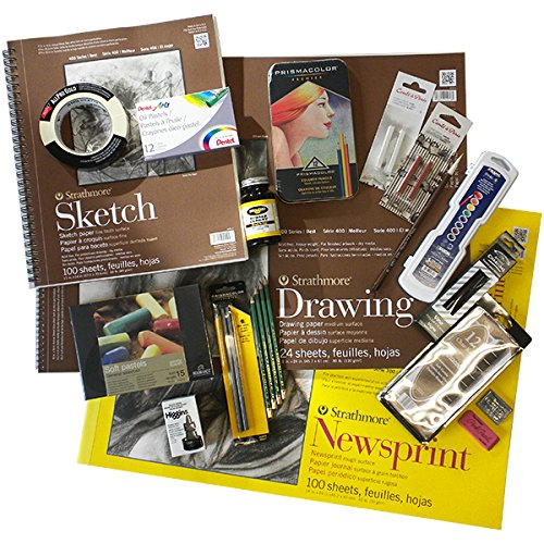 Complete Beginner's Drawing Kit (Curated by artist Karen Sardisco) by FineArtStore