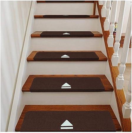 H- Alfombra de Escalera Alfombra Para Escalera Diseño luminoso Conjunto de 10 Autoadhesivo Almohadillas para escaleras Alfombra / Alfombra Para Escalera Antideslizante Antideslizante Protector de piso: Amazon.es: Hogar