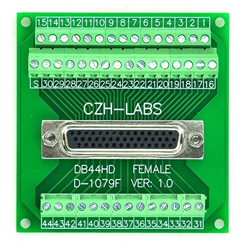 Electronics-Salon D-SUB DB44HD Female Header Breakout Board, Terminal Block, DSUB DB44 Connector. (Connector D-sub Block)