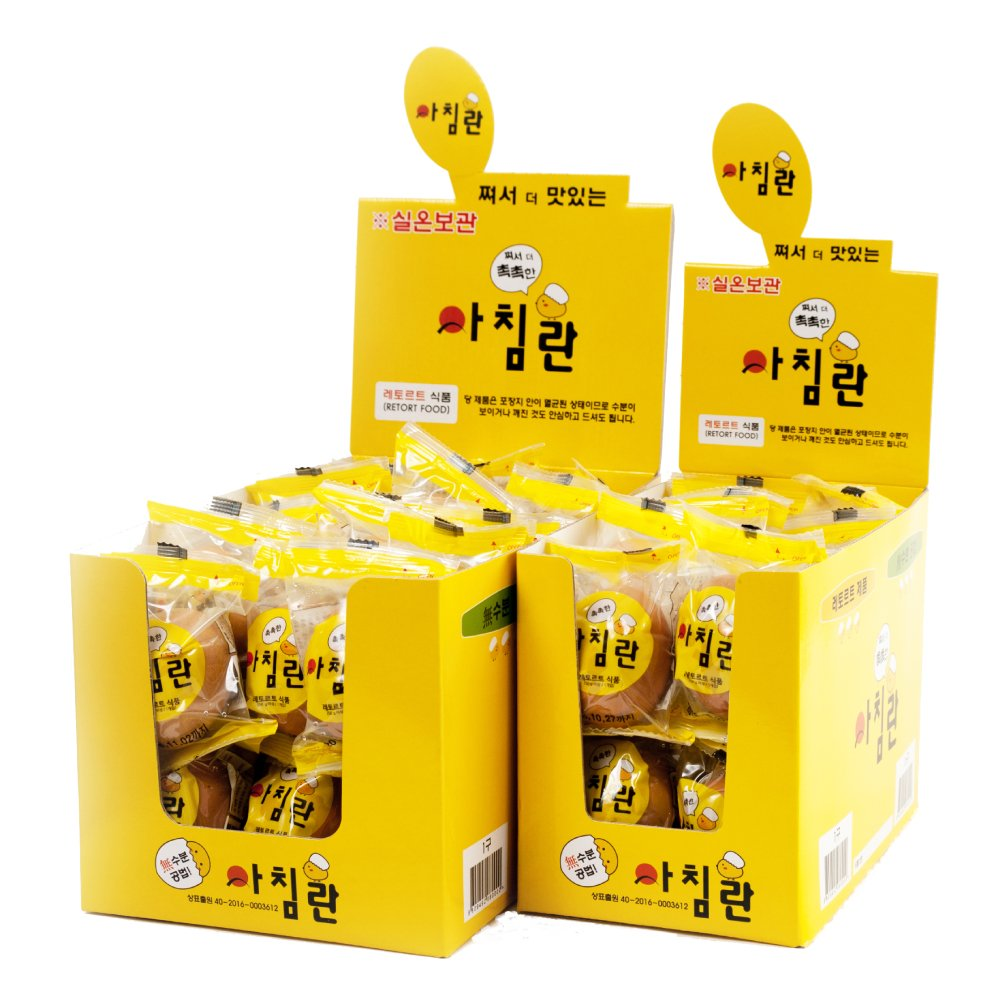 ACHIM Egg, 30 pack for Stores (Display box) - Pure and Steamed egg, Wrapped Individually, Nutritious, Protein Supplement