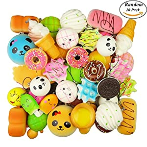 Squishy Toys Pack : Amazon.com: Random 10 Pack Squishies Squishy Toys Charms Cell Gift Phone Chain Phone Straps ...