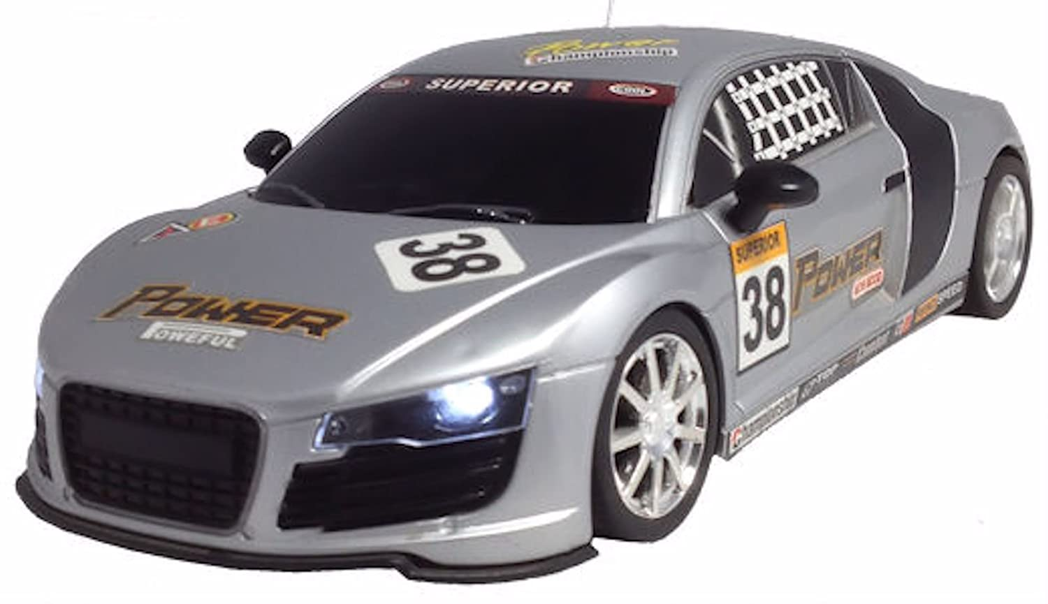 Radio Remote Control Audi R8 Race Car RECHARGEABLE 20KPH (COLOURS VARY  RED  OR SILVER): Amazon.co.uk: Toys U0026 Games