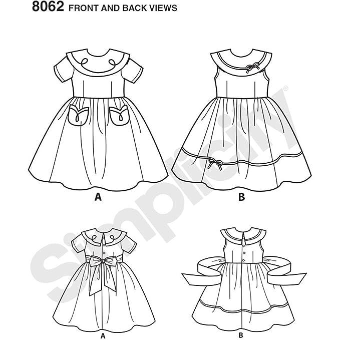 Simplicity 8062 AA Vintage 1950 Vestido para bebé y niño Patrón de ...