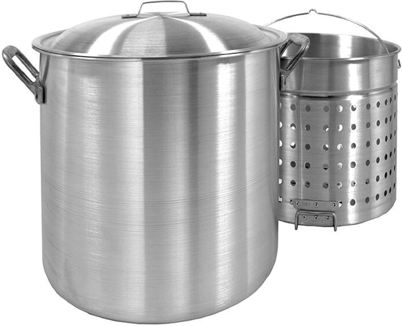 Bayou Classic 1200 120-Quart Aluminum Stockpot with Boil Basket