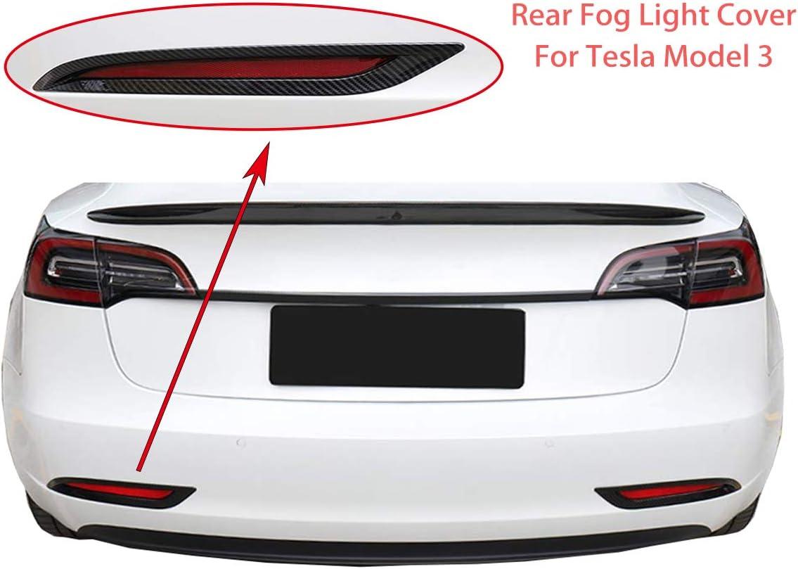 Fit Tesla Model 3 Fog Light Trim Front Fog Light Cover For Tesla Model 3 Accessories Black