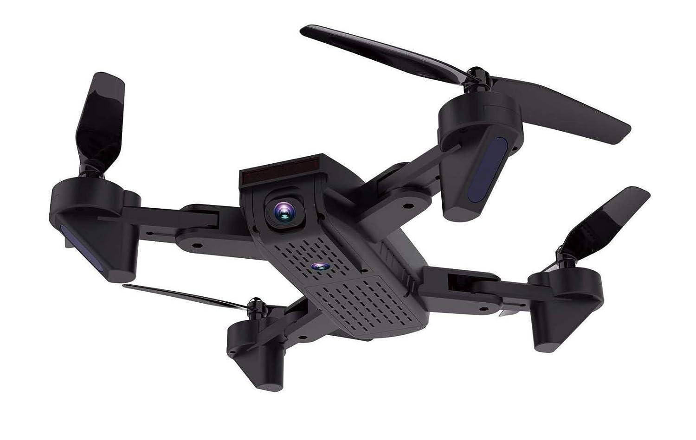 MLL Avión Plegable Que coloca la cámara del Gesto del avión del Control Remoto de Cuatro Ejes fotografía Dual de la cámara fotográfica 200W,Negro,200W