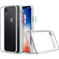 RhinoShield Coque pour iPhone XR [Mod NX] Protection Fine Personnalisable avec Technologie Absorption des Chocs [sans BPA] + [Programme de Remplacement Gratuit] - Gris Platine