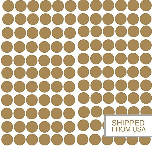 Stick Wall Stickers (Golden Dots Wall Decal 216 Count, Peel & Stick Removable Stickers by lacedecal. Safe for Paint. Stylish Polka Dot Decor for Any Room Wall, Mirror, & Door. Round 1.5