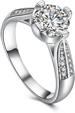 Amazon.com: napoo-rings de mujer flores de vidrio anillo de ...