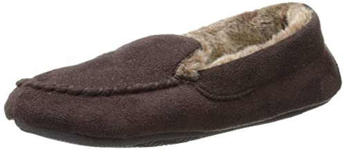 015f685e5f854 Isotoner Women s Moccasin Slipper with Faux Fur