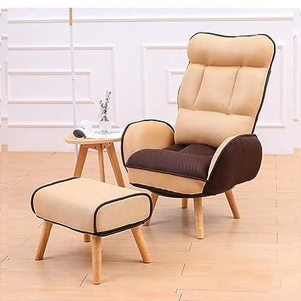 XHHWZB Lazy sofá Silla Sala de Estar sillón Respaldo ...