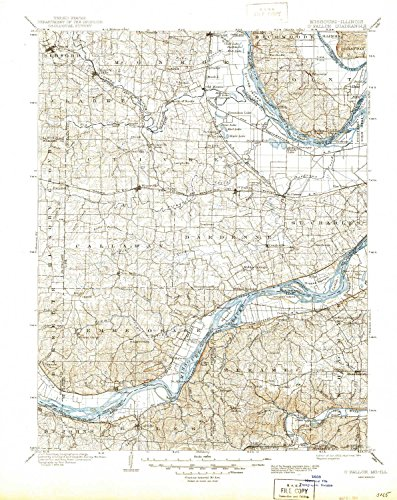 O Fallon MO topo map, 1:125000 Scale, 30 X 30 Minute, Historical, 1903, Updated 1944, 20.8 x 16.6 in - Polypropylene -