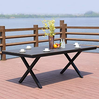 Magnificent Amazon Com Rose Garden Patio Dining Table Rust Free Gmtry Best Dining Table And Chair Ideas Images Gmtryco