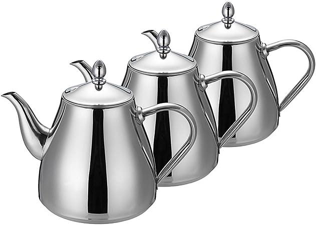 Juego de té- de acero inoxidable tetera cafetera tetera con té y café de olla Dripper