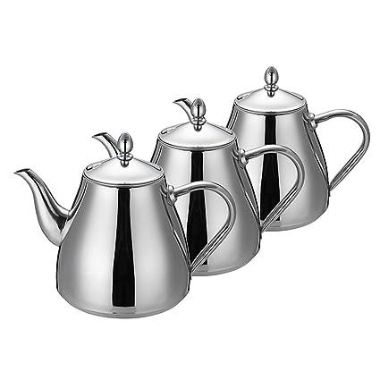 Juego de té- de acero inoxidable tetera cafetera tetera con té y café de olla