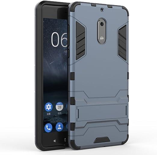 KaiTelin Nokia 6 Funda - Doble Capas Cáscara Silicona Híbrida ...