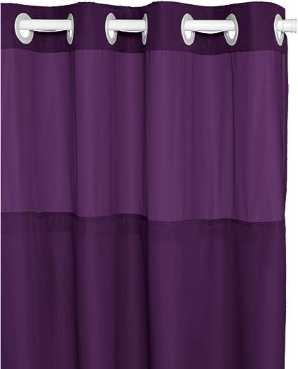 Amazon.com: BigKitchen Escape Purple Hookless Shower Curtain, 71 x ...