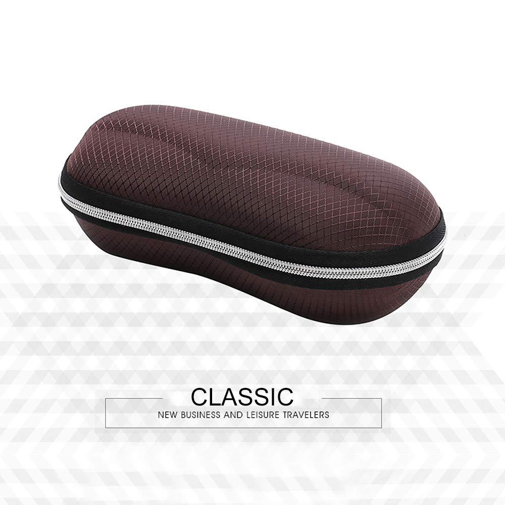 New practical wearable portable round fashion zipper compression sunglasses box