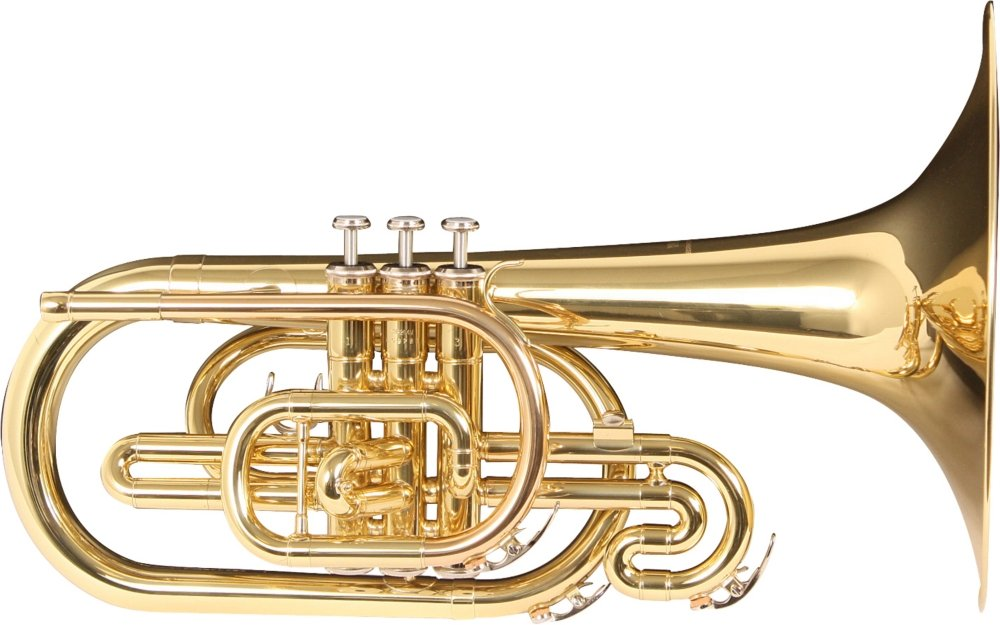 Yamaha YMP204M Marching Mellophone Lacquer Finish