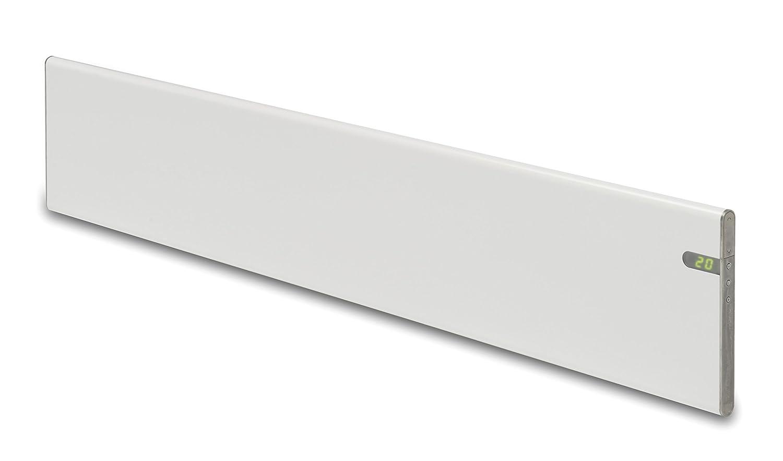 Convector eléctrico blanco diseño moderno Energía eficiente bajo perfil solo 200 mm 1000W, IP24 para baños, soporte pared y de suelo intergrado dos en uno, ...