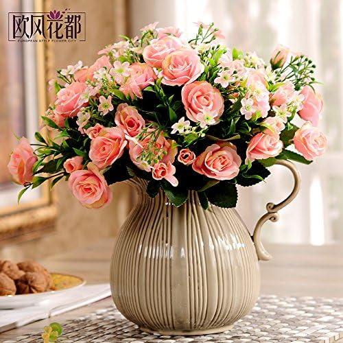 Xin Pang Emulación Continental Flor Rosas Salón Decoracion Y ...
