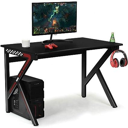 Amazon.com: Black Modern Gaming Computer Desk for Small ...