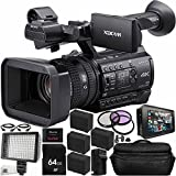 Sony PXW-Z150 4K XDCAM Camcorder + Atomos Ninja Blade 5'' HDMI On-Camera Monitor & Recorder 17PC Accessory Kit Includes 64GB SD Memory Card + 4 Replacement F970 Batteries + MORE
