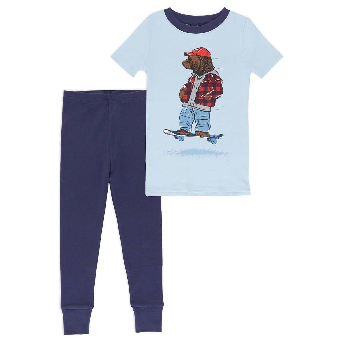 Saint Eve Kids Boys 4 Piece Pant Pajama Set