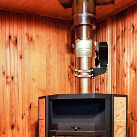 Ventilador de estufa alimentado por calor Ventilador de chimenea ...