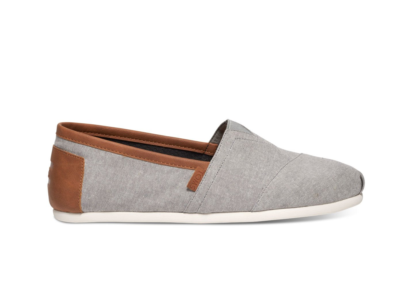 TOMS Men's Classic Canvas Slip-On, Frost Grey Chambray - 10 D(M) US