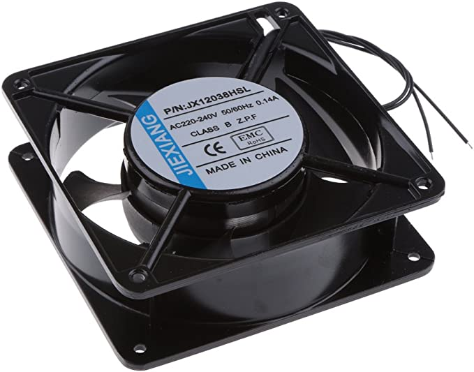 1x Ventilador de Refrigeración 12cm 220V DC de Gbinete Kit para ...