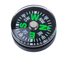 NF&E 5pcs 15mm Mini Button Compass for Camping Hiking Learning
