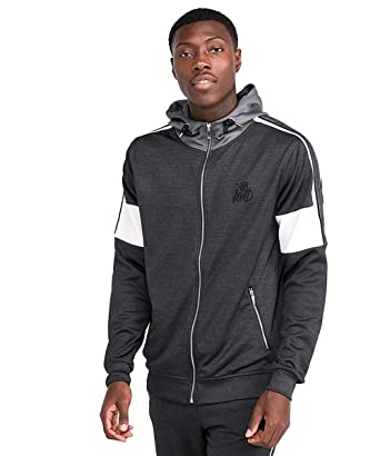 Kings Will Dream | KWD Tarves Poly Hood Track Top - Charcoal