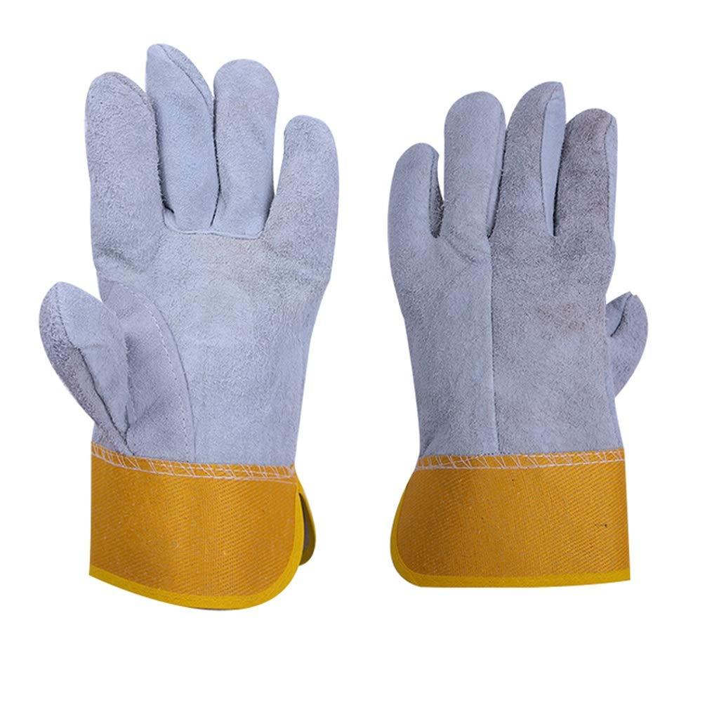 AINIYF 仕事安全保護手袋、オーブン/グリル/暖炉/ストーブ/鍋のホールダー/バーベキューのための溶接牛革手袋 (サイズ さいず : 12 pairs)  B07PPV29V1