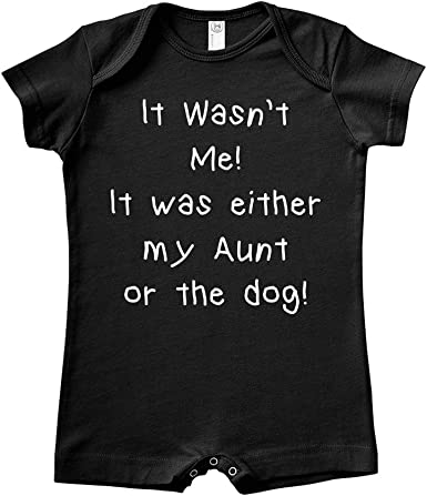 Baby Romper Mashed Clothing It Wasnt Me It was Either My Great-Uncle Or The Dog