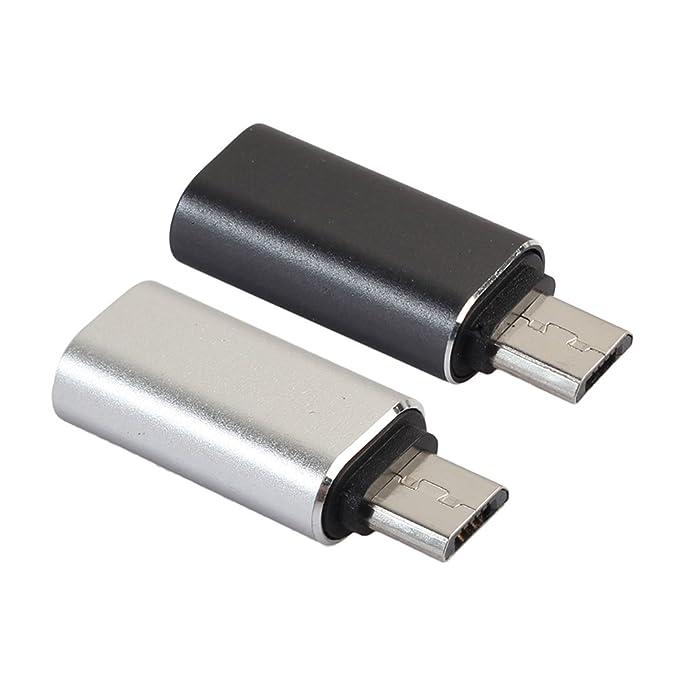 2 opinioni per Demiawaking 2 x USB Tipo C Femmina a Micro USB Maschio Convertitore Adattatore