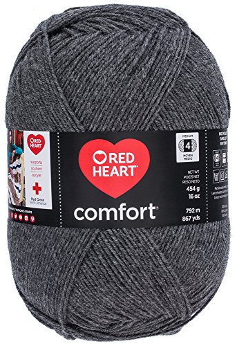 Red Heart Comfort Yarn, Charcoal