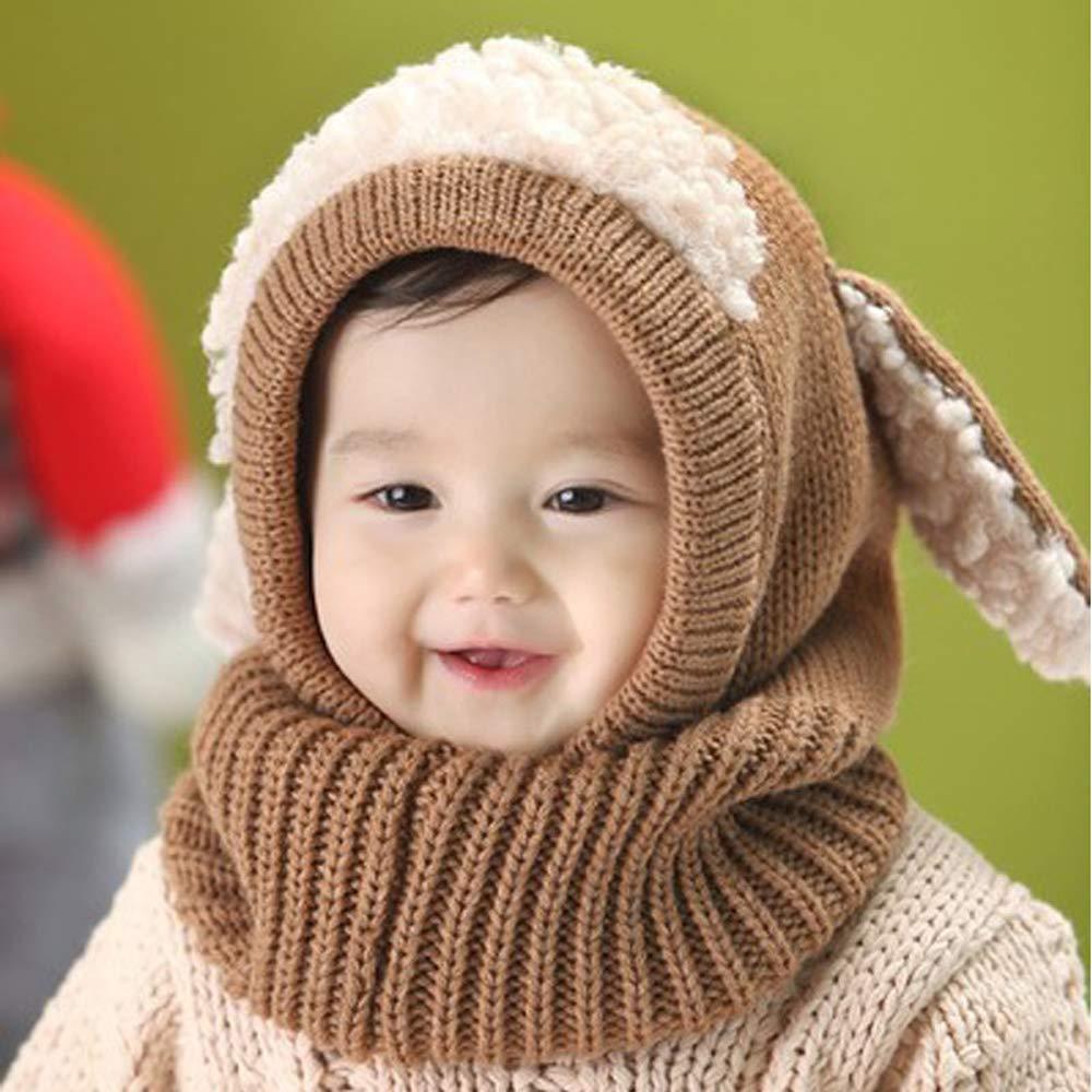 Urtrend Baby Girls Boys Toddler Winter Hat Scarf Earflap Hood Scarves Skull Caps